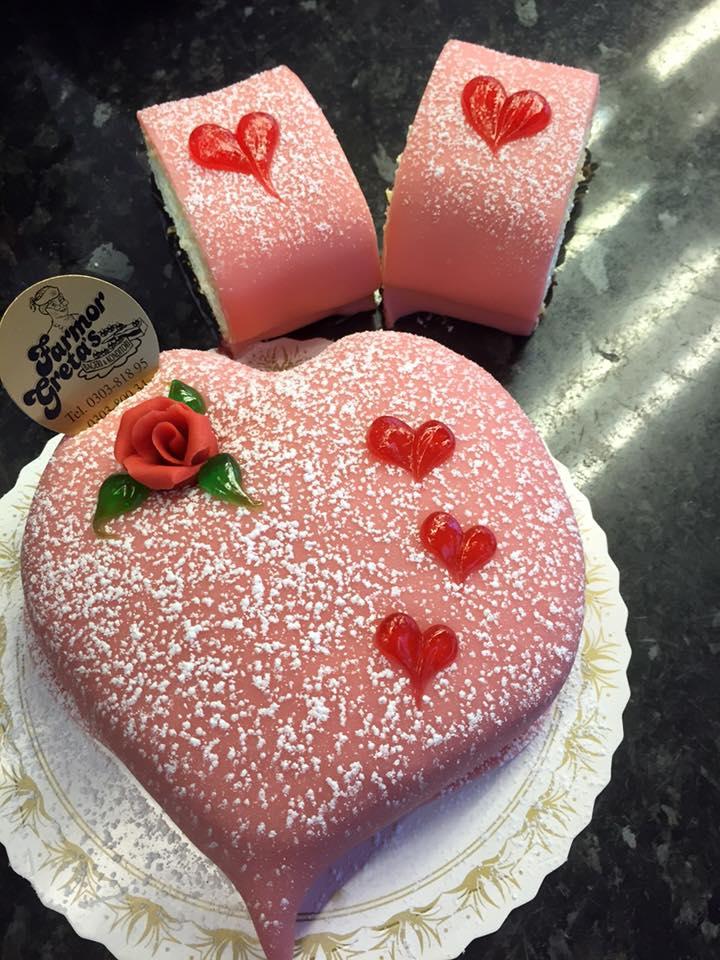 Alla hjärtans dag tårta & bakelse
